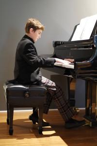 Piano Student Trevor participate in MTAC CM exam